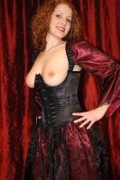 Dress black satin
