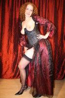dress red satin